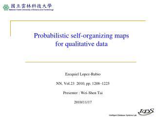 Probabilistic self-organizing maps  for qualitative data