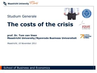 Agenda Intro and recap The costs of the crisis The real costs of the crisis Conclusions