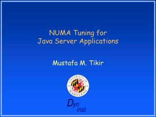 NUMA Tuning for  Java Server Applications