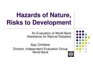 Hazards of Nature,  Risks to Development