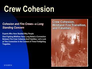 Crew Cohesion