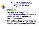 CPT 4. CHEMICAL EQUILIBRIA