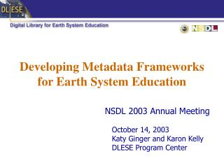 Developing Metadata Frameworks for Earth System Education