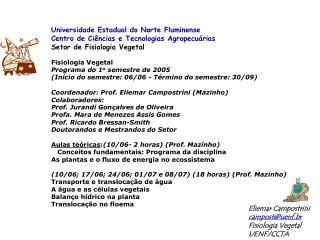 Universidade Estadual do Norte Fluminense Centro de Ciências e Tecnologias Agropecuárias