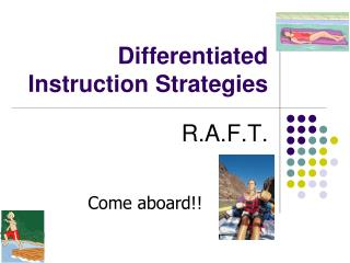 Differentiated Instruction Strategies