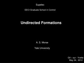 Undirected Formations