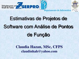 Estimativas de Projetos de Software com Análise de Pontos de Função