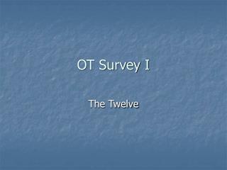 OT Survey I