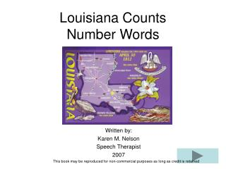 Louisiana Counts Number Words