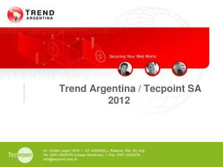 Trend Argentina / Tecpoint SA 2012