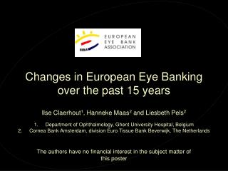 Changes in European Eye Banking over the past 15 years