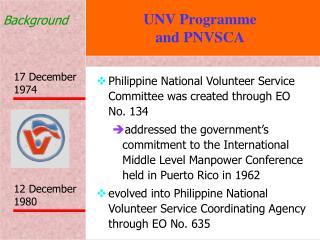 UNV Programme  and PNVSCA