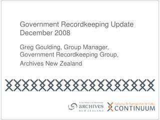 Government Recordkeeping Update December 2008