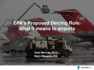 EPAs Proposed Deicing Rule:  What it means to airports