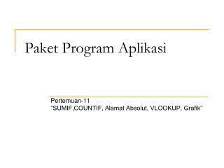 Paket Program Aplikasi