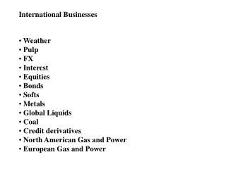 International Businesses