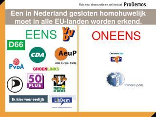 Een in Nederland gesloten homohuwelijk moet in alle EU-landen worden erkend.