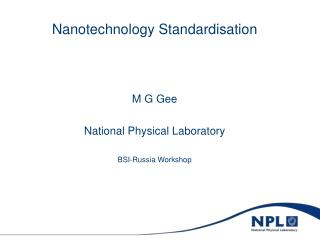 Nanotechnology Standardisation