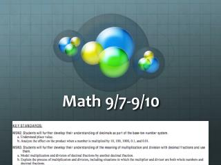 Math 9/7-9/10