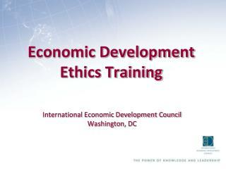 Economic Development Ethics Training