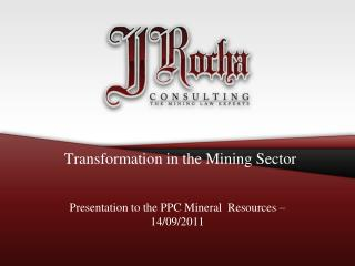 Transformation in the Mining Sector
