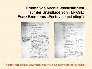 Forschungsstelle und Dokumentationszentrum für österreichische Philosophie
