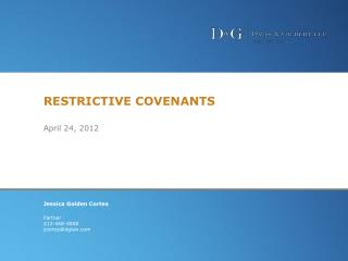 RESTRICTIVE COVENANTS April 24, 2012