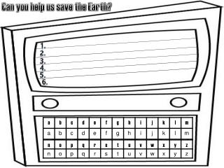 Can you help us save the Earth?