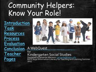 Community Helpers: Know Your Role!