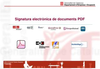 Signatura electrònica de documents PDF