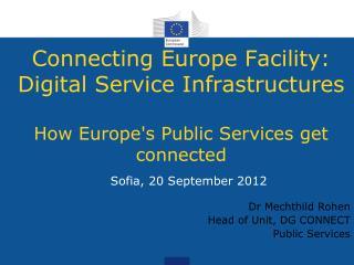 Sofia, 20 September 2012 Dr Mechthild Rohen Head of Unit, DG CONNECT Public Services