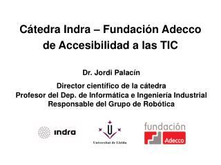 C tedra Indra   Fundaci n Adecco de Accesibilidad a las TIC