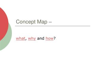 Concept Map –