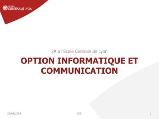 Option Informatique et communication