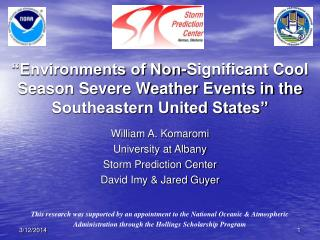 Environments of Non-Significant Cool Season Severe Weather Events in the Southeastern United States