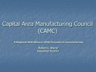 Capital Area Manufacturing Council (CAMC)