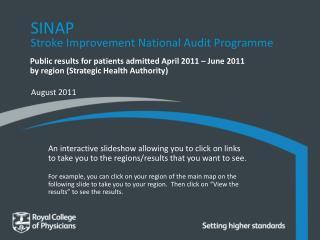 SINAP Stroke Improvement National Audit  Programme