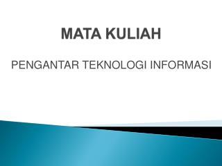 MATA KULIAH