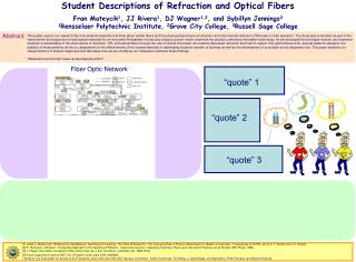 Student Descriptions of Refraction and Optical Fibers