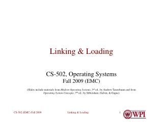 Linking & Loading