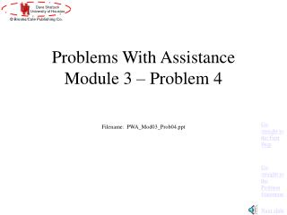 Problems With Assistance Module 3 – Problem 4
