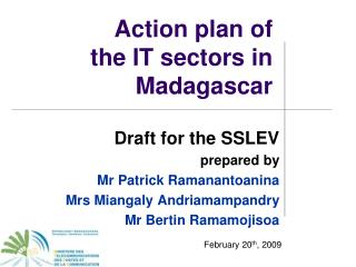 Action plan of  the IT sectors in Madagascar