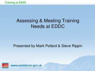 Training at EDDC