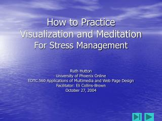 How to Practice Visualization and Meditation For Stress Management