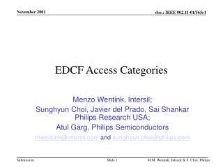 EDCF Access Categories