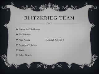 Blitzkrieg team