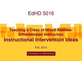 EdHD 5016