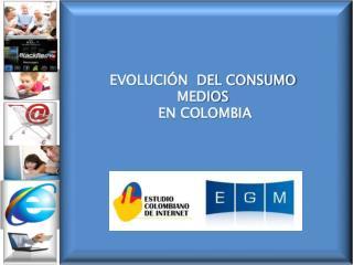 EVOLUCIÓN  DEL CONSUMO MEDIOS  EN COLOMBIA