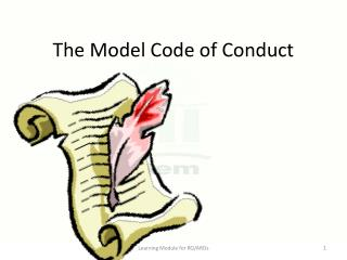 The Model Code of Conduct