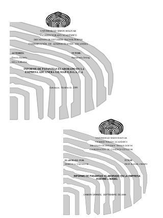 UNIVERSIDAD SIMON BOLIVAR VICERRECTORADO ACADÉMICO  DECANATO DE ESTUDIOS  TECNOLÓGICOS